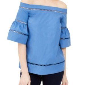 Michael Kors Crochet Eyelet-Trim Off Shoulder Top